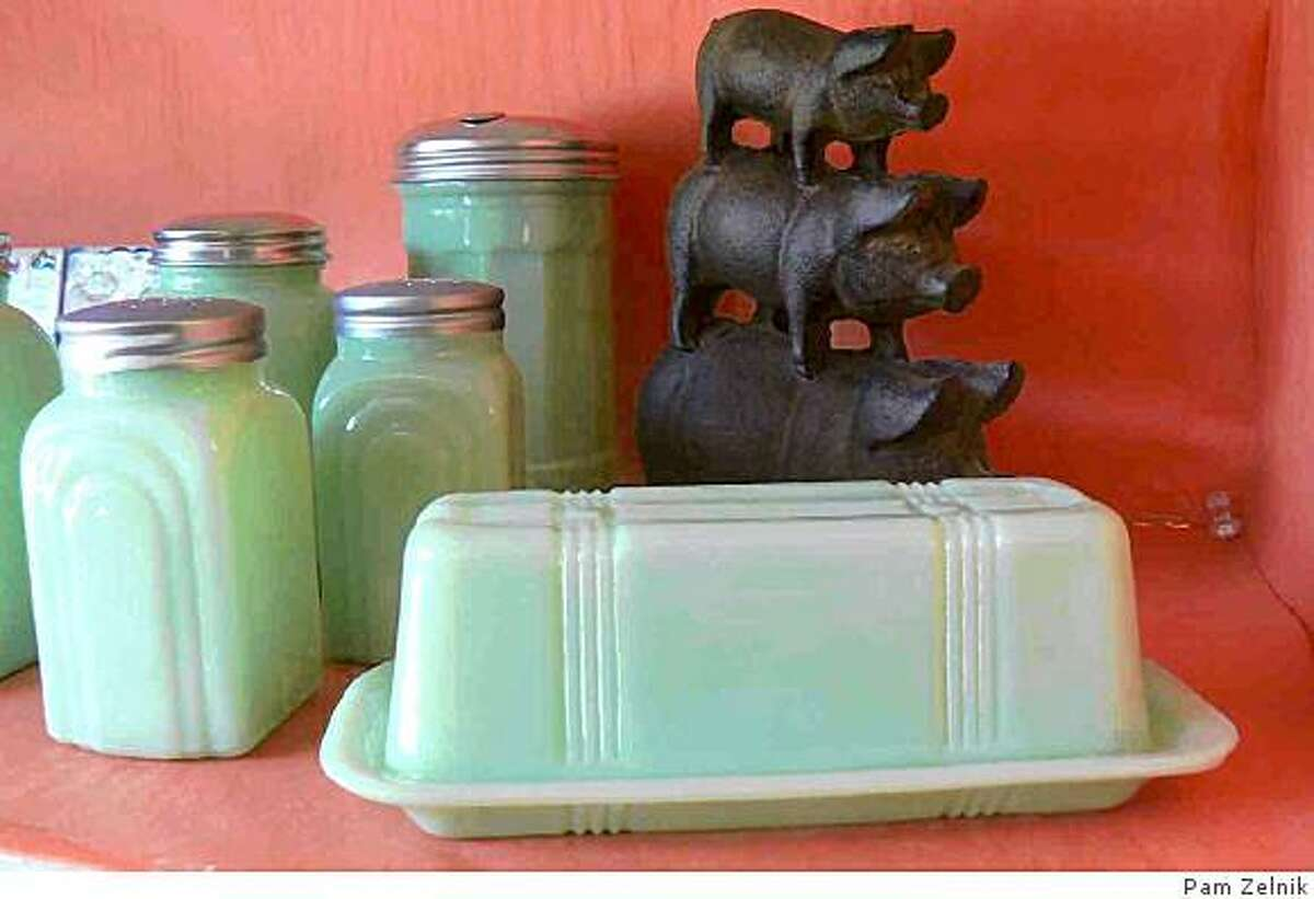 milky jade butter dish from Ninepatch, $13