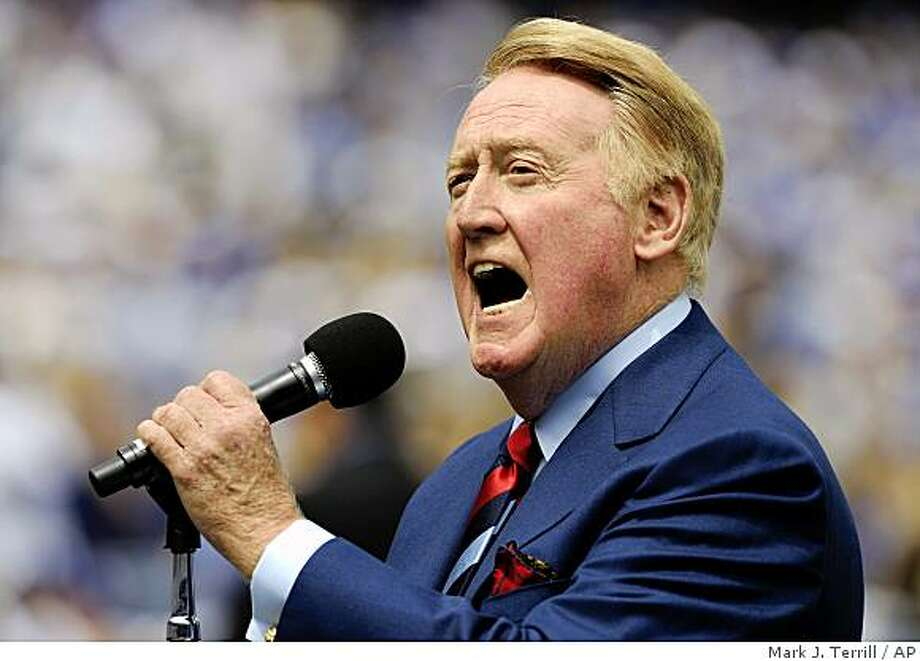 Los Angeles Dodgers Hall of Fame announcer Vin Scully is now 85. Photo: Mark J. Terrill, AP