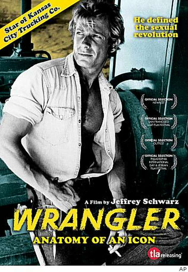"This photo provided by TLA Releasing shows actor Jack Wrangler in a movie poster for the documentary about him, ""Wrangler: Anatomy of an Icon."" Wrangler, a ruggedly handsome 1970s-era porn star whose openness about his homosexuality made him a symbol of self-confidence for many gay men, has died at the age of 62. (AP Photo/TLA Releasing)  ** NO SALES ** Photo: AP"
