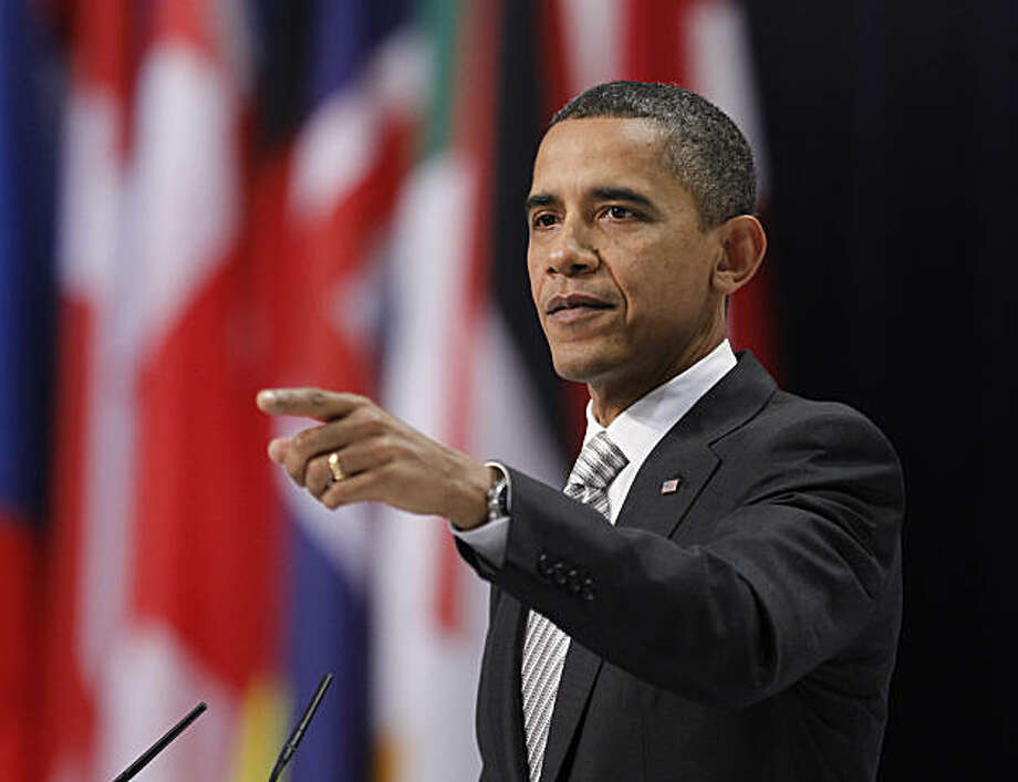 U.S. President Barack Obama speaks during his news conference at the NATO Summit in Lisbon, Portugal, Saturday, Nov. 20, 2010. Obama said it's time for the U.S. Senate to ratify a new nuclear arms treaty with Russia, and there's no good reason for Republicans to delay it. He said U.S. allies in Europe want the pact approved for their protection, not just America's protection. Photo: Pablo Martinez Monsivais, AP