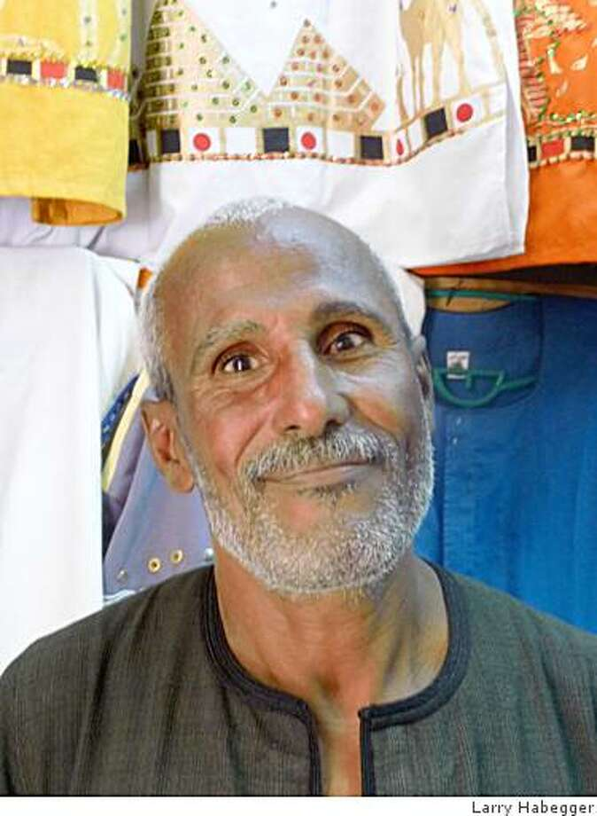 Mohammad the shirt salesman Photo: Larry Habegger