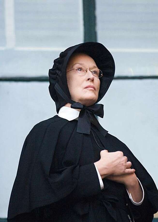 "In this image released by Miramax Film Corp., Meryl Streep portrays Sister Aloysius in a scene from ""Doubt.""  Streep was nominated for a Golden Globe award for best actress in a motion picture drama on Thursday, Dec. 11, 2008.  The awards will be held on Jan. 11 in Beverly Hills, Calif. (AP Photo/Miramax Film Corp, Andrew Schwartz) ** NO SALES ** Photo: Andrew Schwartz, AP"