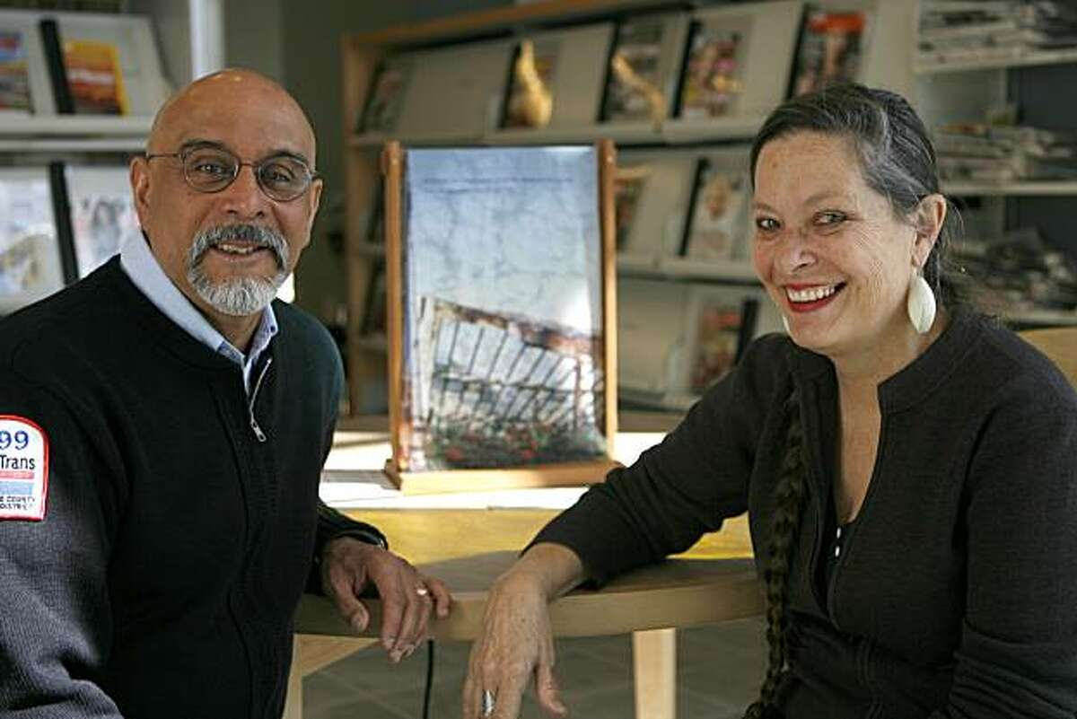 Kate Connell and Oscar Melara have completed a multimedia art installation about the Portola District called Crossing the Street that is on display in the Portola Branch Library in the Portola District of San Francisco, Calif. on Friday, Nov. 12, 2010.
