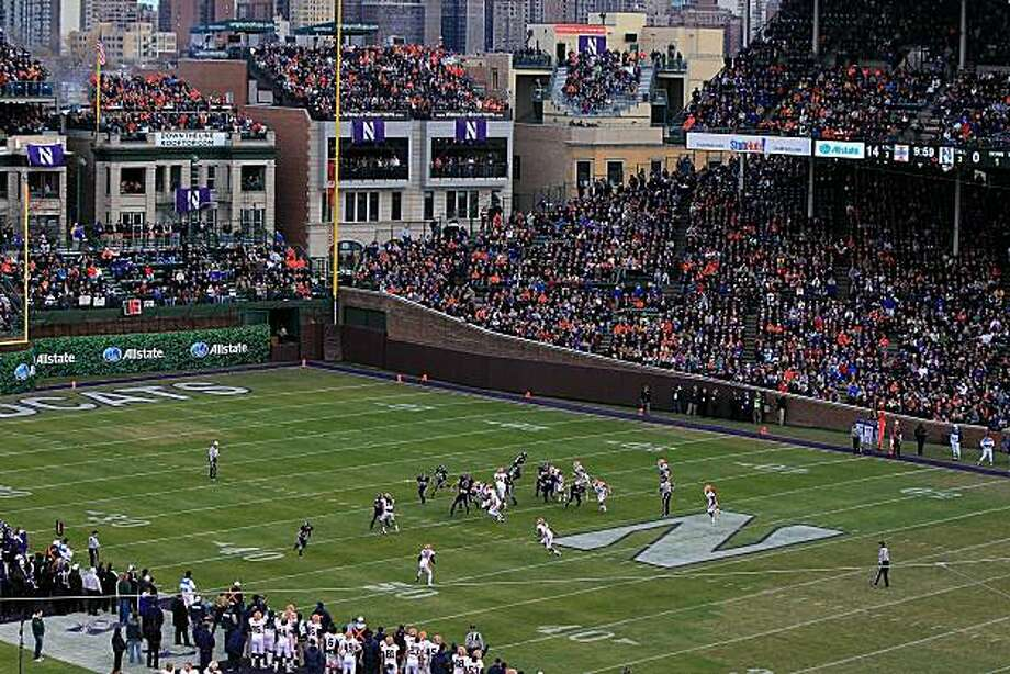 CHICAGO - NOVEMBER 20: A general view as the Northwestern Wildcats take on the Illinois Fighting Illini during a game played at Wrigley Field on November 20, 2010 in Chicago, Illinois. Photo: Jonathan Daniel, Getty Images