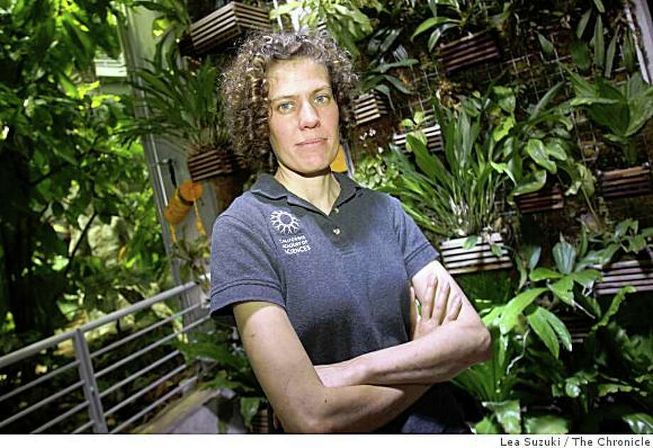 Kristin Natoli, horticulturist with the California Academy of Sciences, who cares for all of the living plants and trees in the Rainforests of the World exhibit photographed in the Rainforests of the World exhibit at the California Academy of Sciences in San Francisco, Calif. on Tuesday March 31, 2009. Photo: Lea Suzuki, The Chronicle