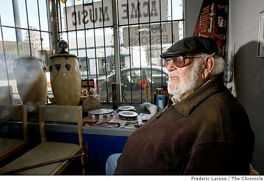 MacArthur Blvd in Oakland  has a neighborhood cafe called World Ground Cafe, a music store, ACME Music owned by 83 year old owner Jay Rose and Komodo Toys on March 31, 2009. Photo: Frederic Larson, The Chronicle