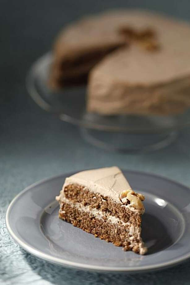 Walnut cake as seen in San Francisco, Calif., on November 10, 2010. Food styled by Sophie Brickman. Photo: Craig Lee, Special To The Chronicle