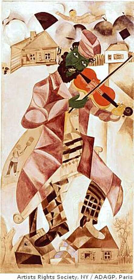 "Marc Chagall's ""Music,"" 1920, tempera, gouache, and opaque white on canvas. State Tretyakov Gallery, Moscow. Photo: Artists Rights Society, NY, ADAGP, Paris"