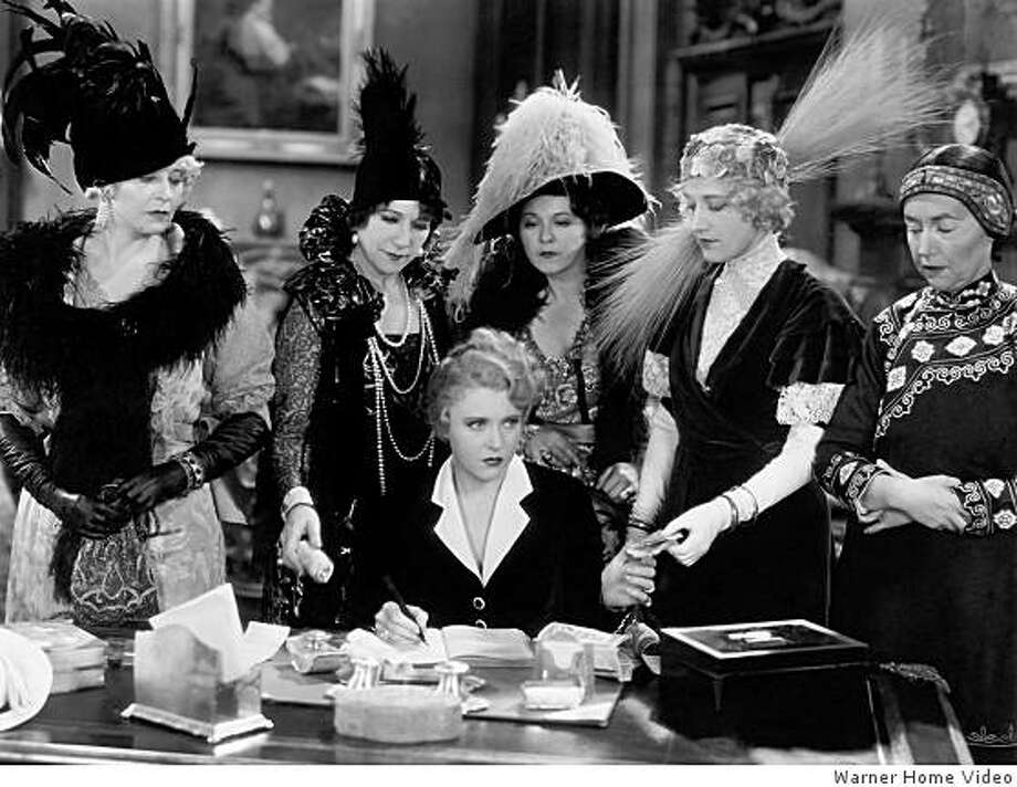 "Ruth Chatterton, center, plays a San Francisco madam in  ""Frisco Jenny,""  directed by William A. Wellman (1932) Photo: Warner Home Video"