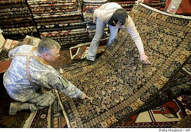 Afghan War Rugs Help Struggling Economy Sfgate