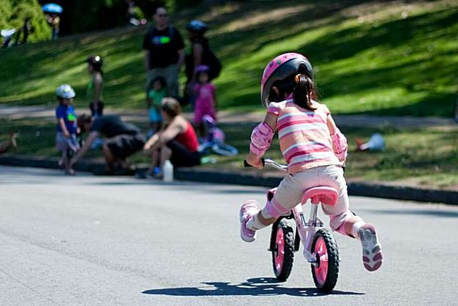 The  Freedom from Training wheels class helps to teach kids to ride a bike. Photo: Kate McCarthy