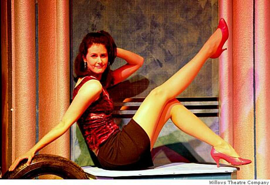 """Erin Hoffman plays Pippa, the stripper, in """"Trailer Park: The Musical."""" Photo: Willows Theatre Company"""