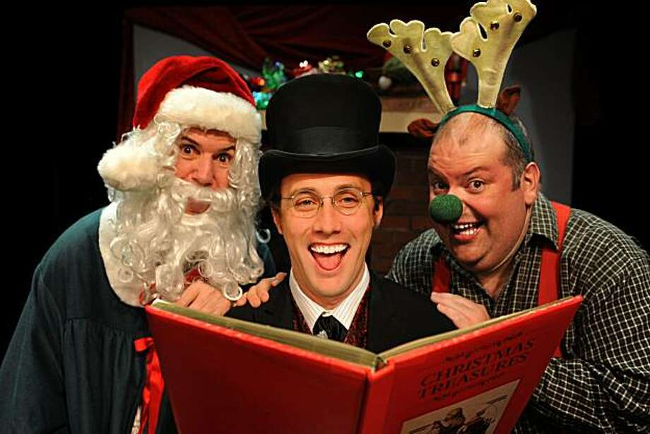 """Robert Parsons (left), Will Springhorn Jr. and Martin Rojas-Dietrich in San Jose Stage's """"Every Christmas Story Ever Told"""" Photo: Dave Lepori"""