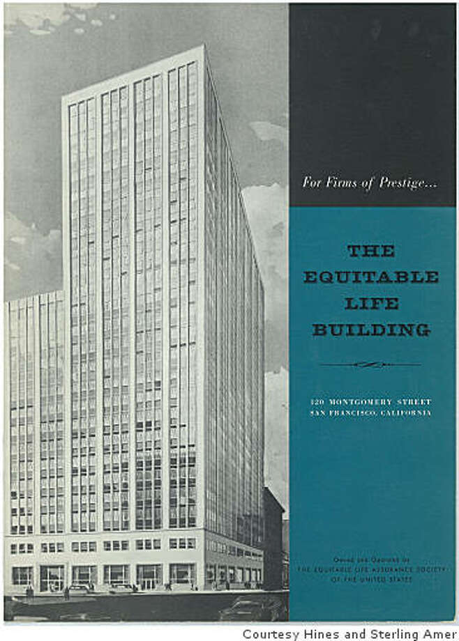 100 Montgomery Street as it at its opening in 1955 when it opened as the first new San Francisco office tower since the Depression.Courtesy Hines and Sterling American Properties Photo: Courtesy Hines And Sterling Amer