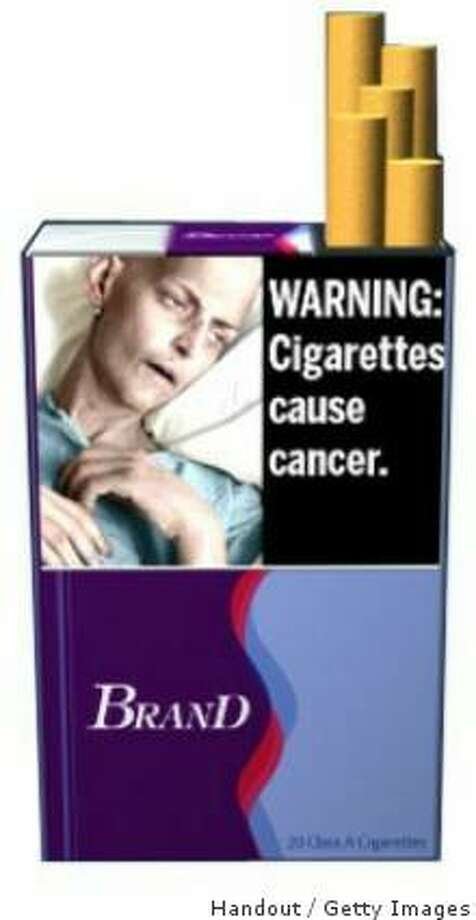 UNSPECIFIED - NOVEMBER 10:  In this handout illustration provided by the Food and Drug Administration (FDA) on November 10, 2010, one of 36 new proposed FDA cigarette warning labels is pictured. The FDA's will pick nine of the images to accompany warning statements on the larger, more prominent labels which will be mandatory on all cigarettes beginning in October of 2012.  (Illustration by FDA Via Getty Images) Photo: Handout, Getty Images