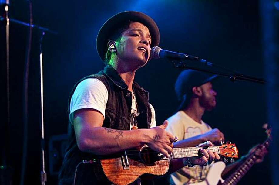 Bruno Mars performs at Slim's in San Francisco, Calif., on Tuesday, November 16, 2010. Photo: Laura Morton, Special To The Chronicle