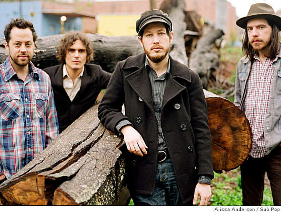 """Vetiver returns to San Francisco for a special homecoming performance on April 8. The date marks the official CD release party for its latest album, """"Tight Knit."""" The group also plays the Palace of Fine Arts on April 15 with Seattle's Fleet Foxes. The group is led by songwriter Andy Cabic (center). Photo: Alissa Anderson, Sub Pop"""