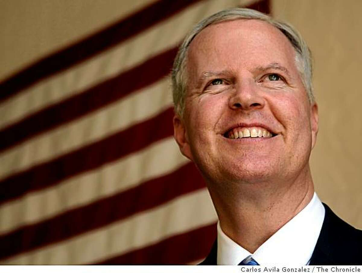 Tom Campbell, a GOP candidate for Governor, spoke with the San Francisco Chronicle about his run for the state's highest office on Wednesday, March 25, 2009, in San Francisco, Calif.