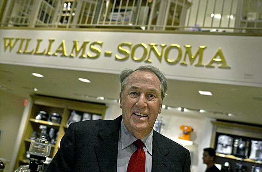 Howard Lester, former chairman of Williams-Sonoma, at the Union Square store. Photo: Chris Hardy, The Chronicle
