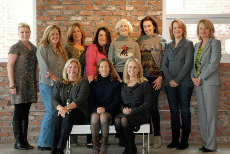 Pictured are some of the Catwalk 2 committee members at The Loading Dock. Top row:  Marcia Maslo (Fairfield); Janne Allam (Darien); Laura Kolderup (Darien); Karen Hauben (Darien); Susan Campion (Rye); Molly Massie (Darien); Susan Lynch (New Canaan); and Debbie Eck (Fairfield). Bottom row: Jen Fitzpatrick (Darien); Mimi Sternlicht (Greenwich); and Susan Fleisher (Greenwich). Photo: Contributed Photo