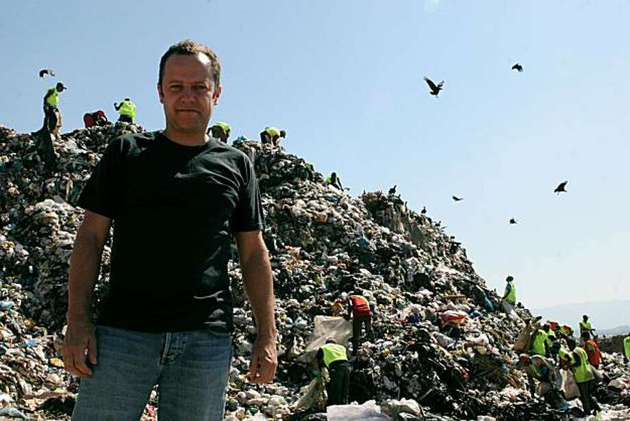 "Artist Vik Muniz at Jardim Gramacho, the world's largest garbage dump, outside Rio de Janeiro, in Lucy Walker's 2010 documentary ""Waste Land."" Photo: Fabio Ghivelder, Vik Muniz Studio"