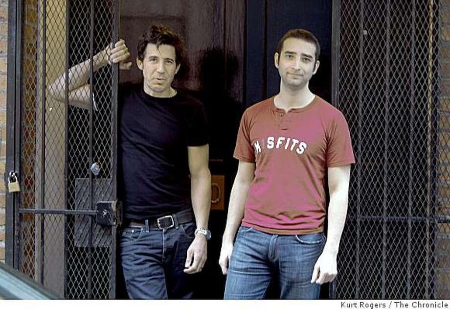 (LtoR) Skills Like This director Monty Miranda and screenwriter Spencer Berger . on Friday  Feb 13,  2009 in San Francisco, Calif Photo: Kurt Rogers, The Chronicle