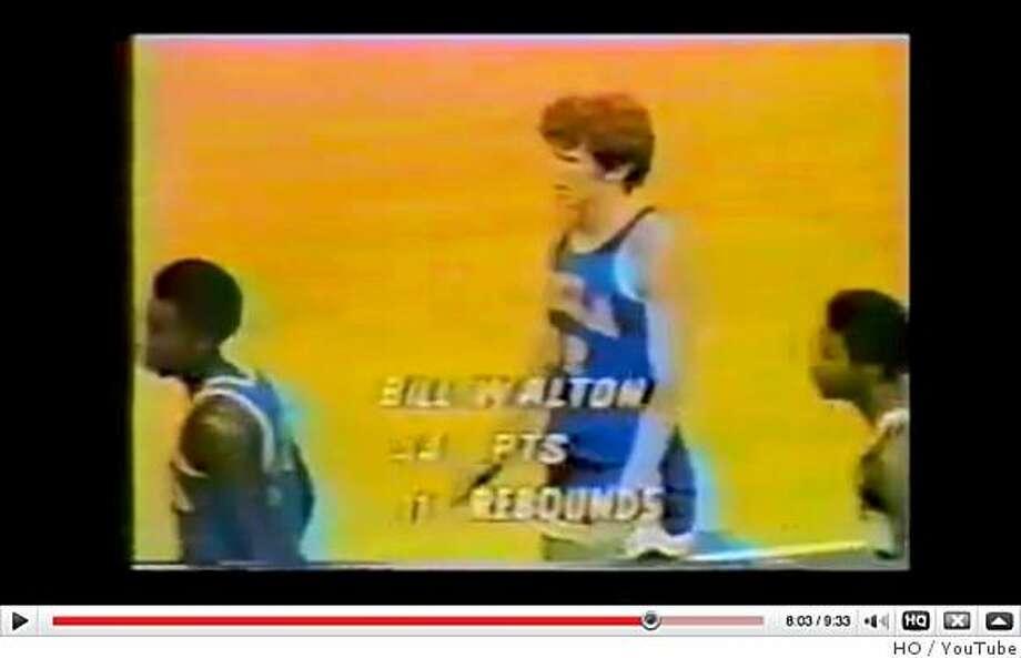 SAN FRANCISCO, CA - APRIL 5:   Screen shot of Bill Walton as seen on You Tube. Photo: HO, YouTube