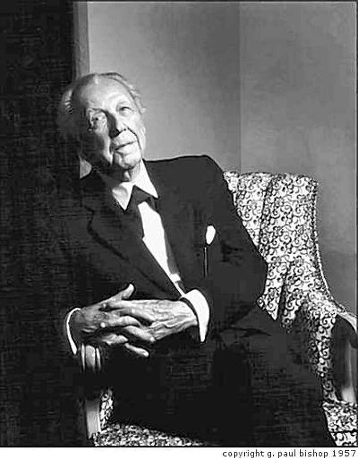 Frank Lloyd Wright in 1957 Photo: Copyright G. Paul Bishop 1957