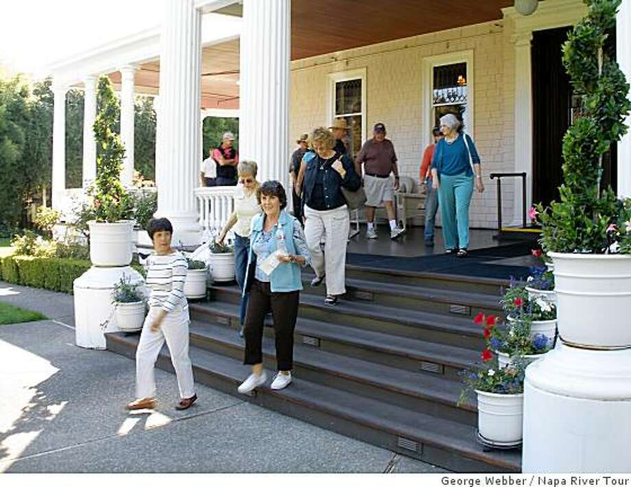 Churchill Manor is a 125-year-old mansion in Napa, now a B&B, that the tour visits. Photo: George Webber, Napa River Tour