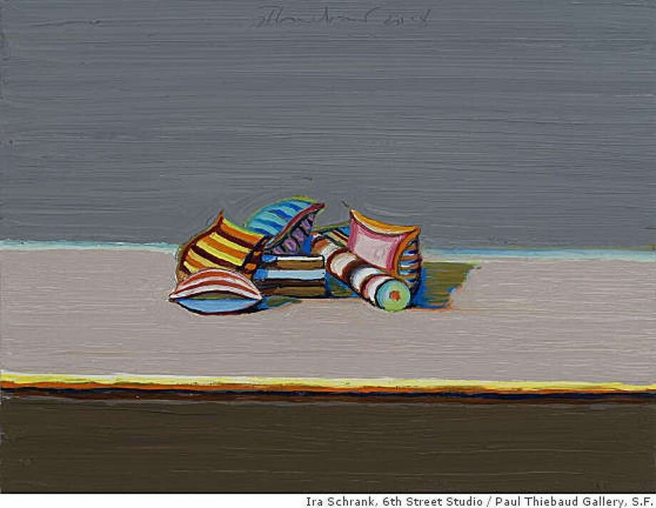 """Candy Pieces"" (2008) oil on wood by Wayne Thiebaud10"" x 13.25"" Photo: Ira Schrank, 6th Street Studio, Paul Thiebaud Gallery, S.F."