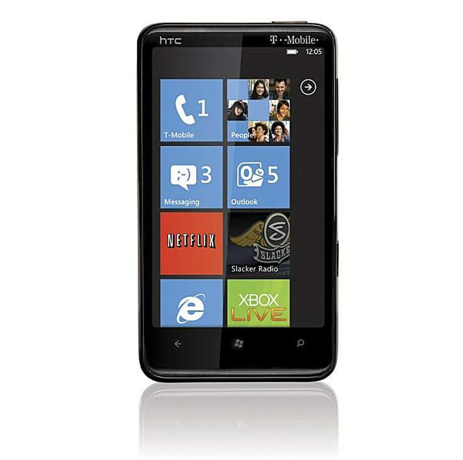 This product image provided by T-Mobile, shows the HTC HD7 smart phone that runs Windows Phone 7. It's the company's most consumer-friendly phone software to date and has lots of snazzy features. (AP Photo/T-Mobile) NO SALES Photo: CreationCenter, AP