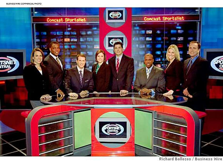 Comcast SportsNet Bay Area's SportsNet Central news team (Left to Right: Mindi Bach, Chuck Fisher, Scott Reiss, Jaymee Sire, Dave Benz, Damon Andrews, Kate Longworth and Matt Morrison) (Photo: Business Wire) Photo: Richard Bollozos, Business Wire