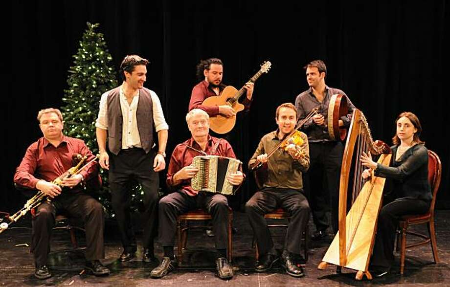The members of Irish Christmas in America wonder who forgot the drum machine. Photo: Ceol Productions