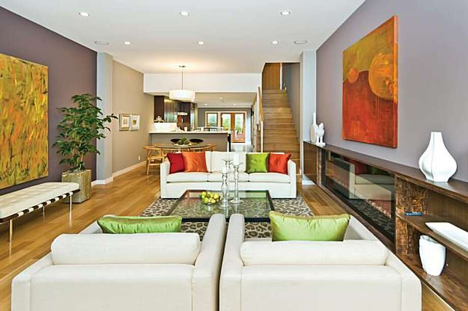 The living area at 1847 Scott for the real estate cover. Photo: Olga Soboleva, Vanguard Properties
