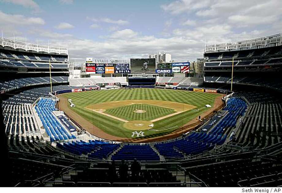 A view of the new Yankee Stadium in New York, Monday, March 30, 2009.  (AP Photo/Seth Wenig) Photo: Seth Wenig, AP