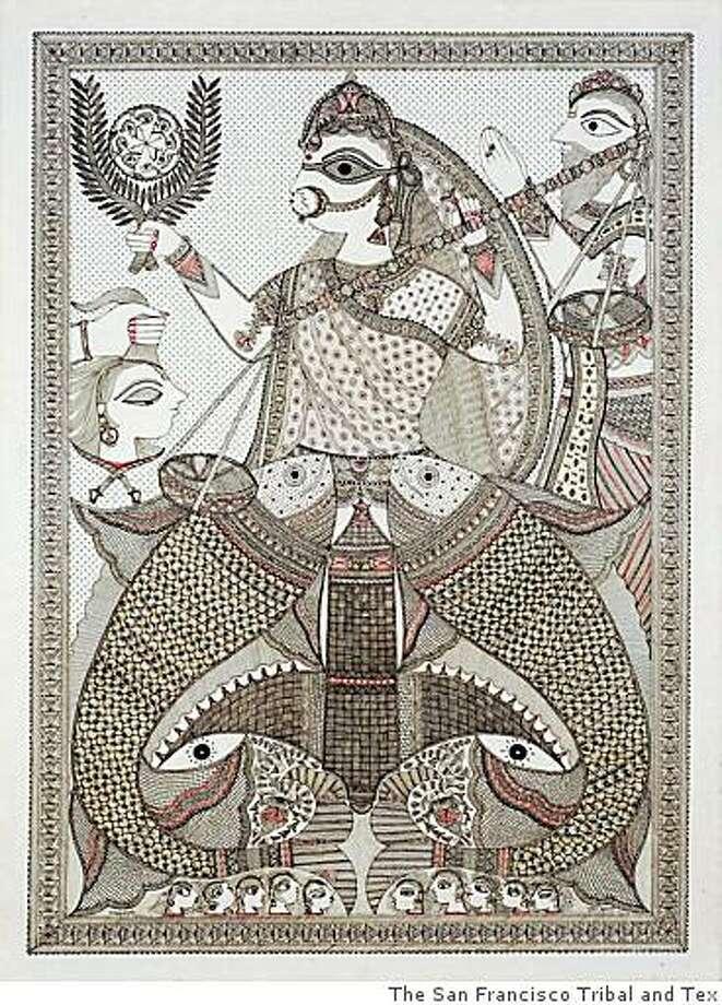 "Pushpa Kumari, The Justice of Satyavati 2005 ink/paper 30"" x 22"". Courtesy of Cavin-Morris Gallery Photo: The San Francisco Tribal And Tex"