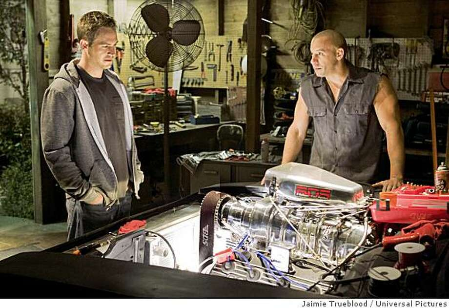 Paul Walker and Vin Diesel in a 'Fast and Furious' sequel.  Photo: Jaimie Trueblood, Universal Pictures