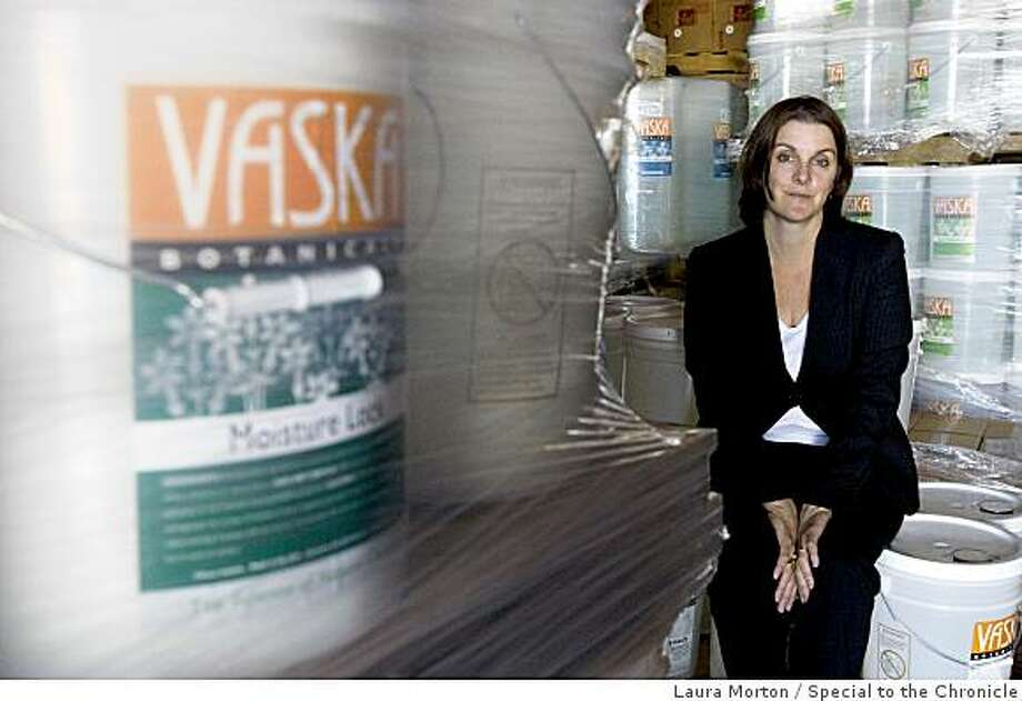 Julia Fry is an entrepreneur whose company Vaska Products makes bio-friendly detergents and cleaners in Berkeley, Calif., on Friday, April 3, 2009.  She is applying for a credit line through the stimulus money that will be funneled through California. Photo: Laura Morton, Special To The Chronicle