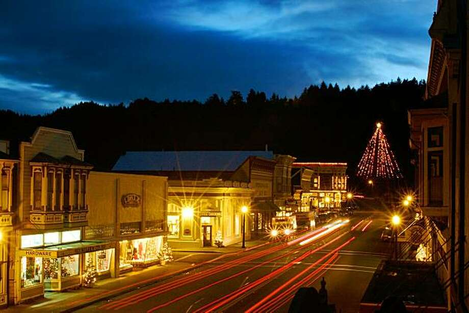 Ferndale at night during the holidays. Photo: Matt Knowles, Aesthetic Design & Photography