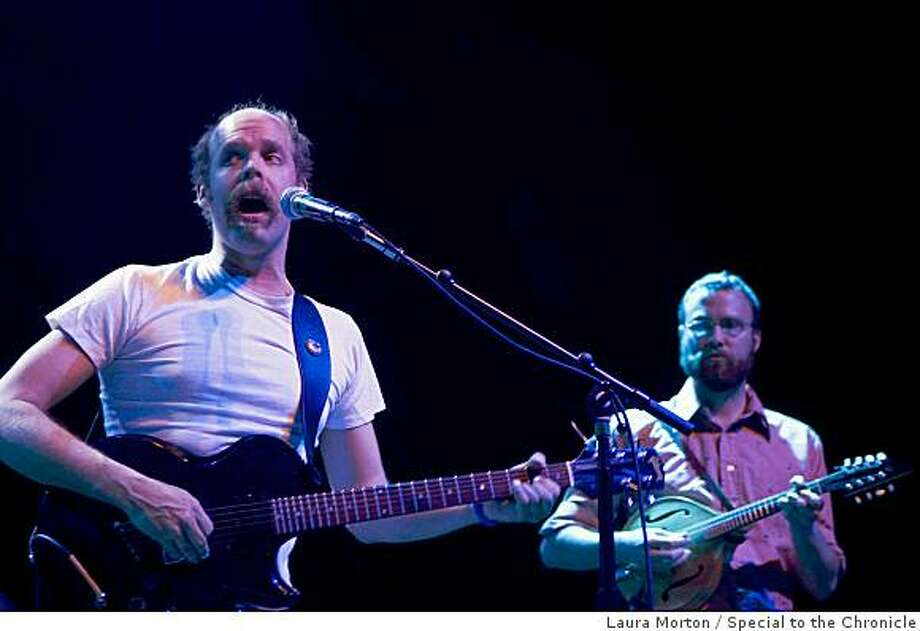 Bonnie Prince Billy (left), an alternative folk singer from Kentucky, performs at the Fillmore Auditorium in San Francisco, Calif., on Monday, March 30, 2009. Photo: Laura Morton, Special To The Chronicle