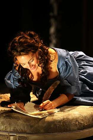 "Aphra Behn (Natacha Roi) discovers her knack for writing plays in Liz Duffy Adams' ""Or,"" at Magic Theatre Photo: Jennifer Reiley"
