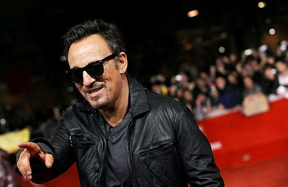 """US singer Bruce Springsteen arrives for the screening of the movie """"The promise:The Making of Darkness on the Edge of Town """" at the 5th Rome Film Festival in Rome on November 1, 2010. Photo: Tiziana Fabi, AFP/Getty Images"""