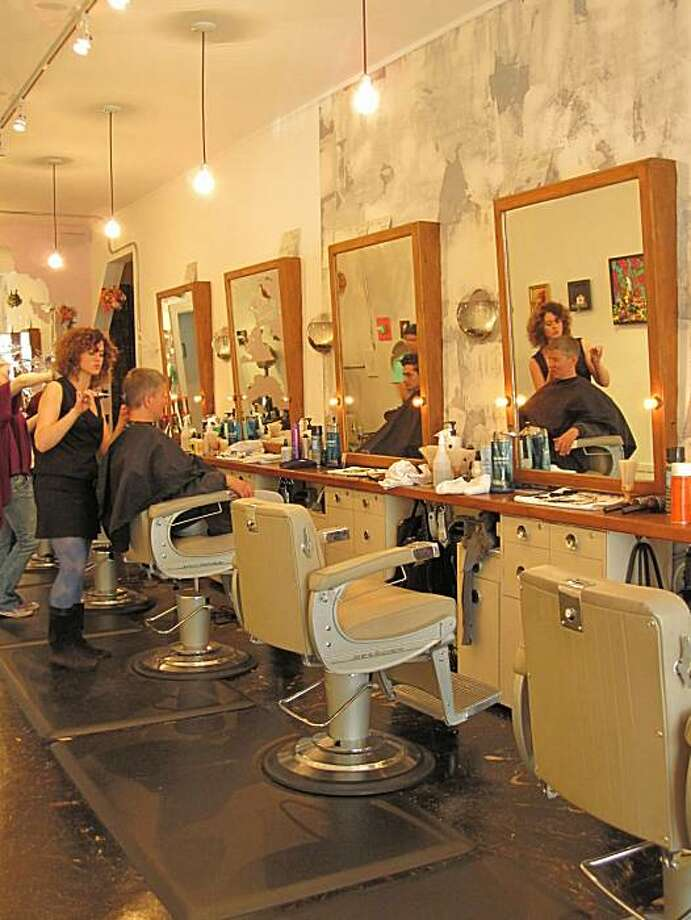 Public Barber Salon at 571 Geary Street in San Francisco combines good value haircuts ($29 and up) with art and local designers. Photo: Public Barber Salon