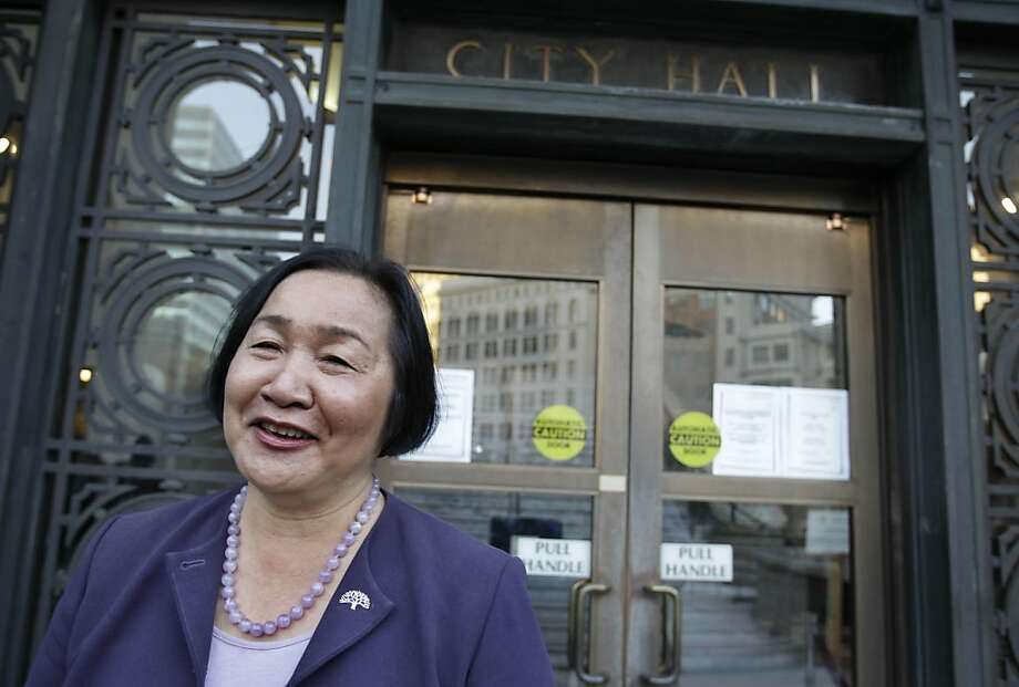 Oakland Councilwoman Jean Quan smiles as she leaves Oakland City Hall for a news conference in Oakland, Calif., Monday, Nov. 8, 2010. The once-crowded, 10-candidate race for Oakland's mayor is down to Quan holding a slight lead over former state Sen. DonPerata, who was ahead after initial first-choice votes were tallied early last week. Photo: Paul Sakuma, AP