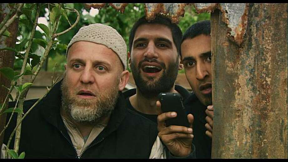 Four Lions by Drafthouse Films. Pictured from left to right: Nigel Lindsay, Kayvan Novak, Arsher Ali Photo: Drafthouse Films