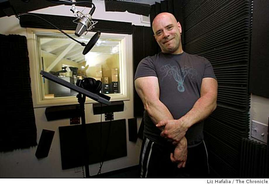 Jon Cavaluzzo is a voiceover artist who is at Antenna Audio in Sausalito, Calif., doing an audio-tour narration on Friday, March 27, 2009. Photo: Liz Hafalia, The Chronicle
