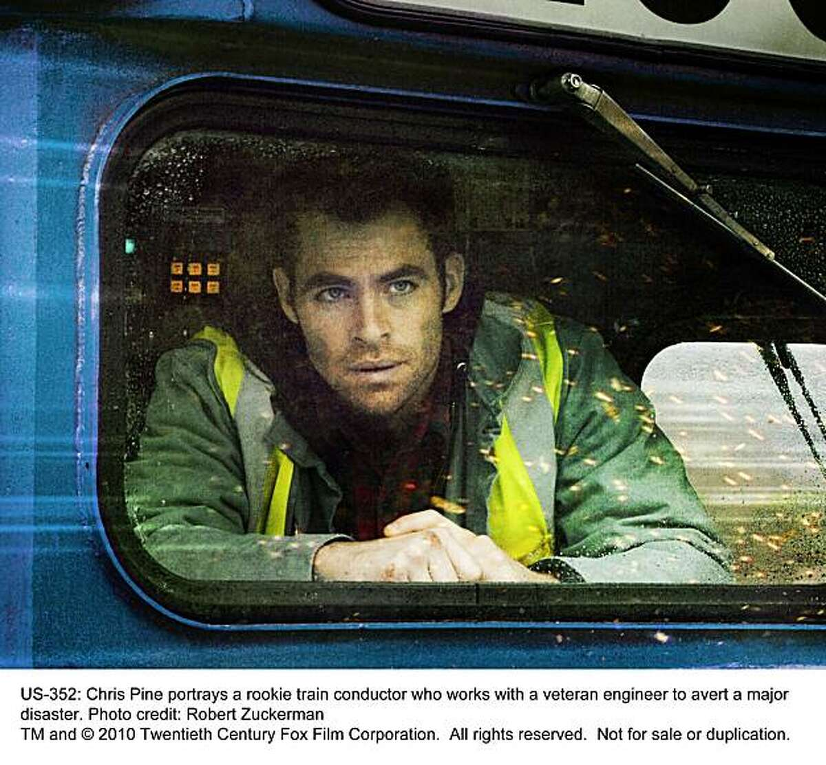 Chris Pine stars as a young train conductor who becomes an unexpected hero, in UNSTOPPABLE.