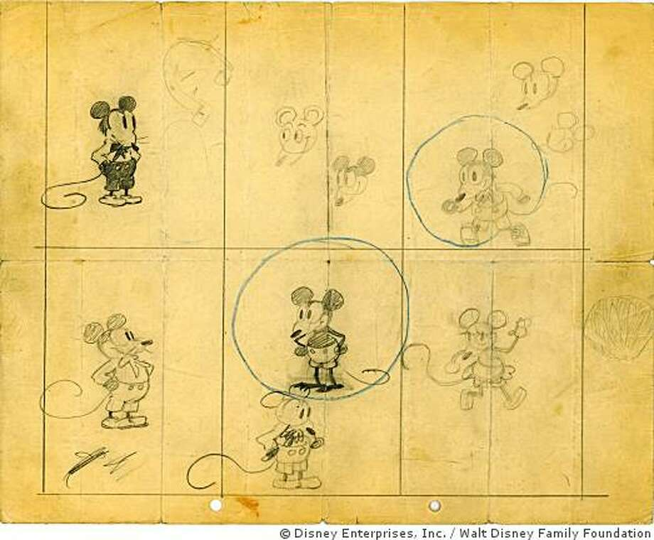 November 18, 1928:Mickey Mouse is born with the release of Steamboat Willie. (thewaltdisneycompany.com)Above: The earliest known drawings of Mickey Mouse. Photo: � Disney Enterprises,  Inc., Walt Disney Family Foundation
