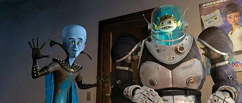 Megamind (Will Ferrell, left) and Minion (David Cross, right) prepare to go under cover in DreamWorks Animation's MEGAMIND to be released by Paramount on November 5th. Photo: DreamWorks Animation