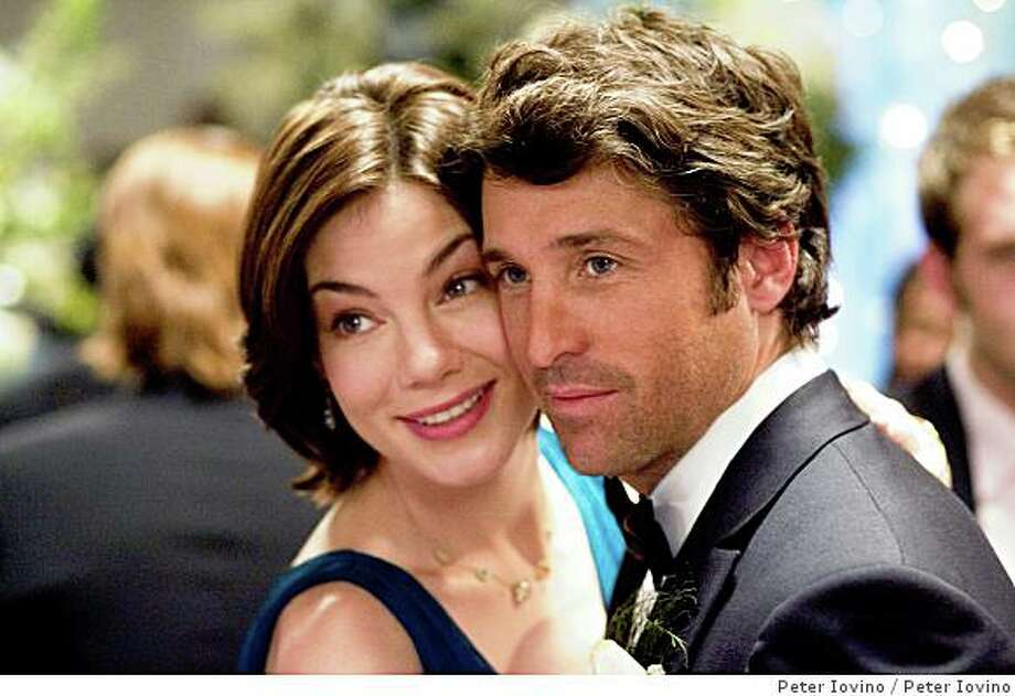 """Tom (Patrick Dempsey, right) decides to accept his best friend Hannah's (Michelle Monaghan, left), invitation to be her maid of honor, but only so he can win her heart and stop the wedding before it's too late in Paul Weiland's """"Made of Honor.""""Photo By:  Peter IovinoIn Columbia Pictures' Made of Honor, when Tom's (Patrick Dempsey, right) best friend, Hannah (Michelle Monaghan, left), asks him to be her maid of honor, Tom accepts - but only so he can woo the bride-to-be and attempt to stop the wedding before it's too late.  The film is directed by Paul Weiland.  The screenplay is by Adam Sztykiel and Deborah Kaplan & Harry Elfont.  The story is by Adam Sztykiel.  The producer is Neal H. Moritz. Photo: Peter Iovino"""